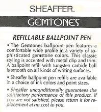 Load image into Gallery viewer, Sheaffer Gemstones, Ballpoint, Blister pack, Blue