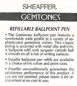 Sheaffer Gemstones, Ballpoint, Blister pack, Blue