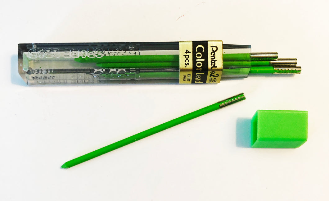 Vintage Lead, Pentel Colours, 2mm x 58mm, Light Green