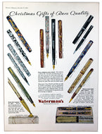 Vintage Magazine Advertising ; Waterman's Christmas Gifts