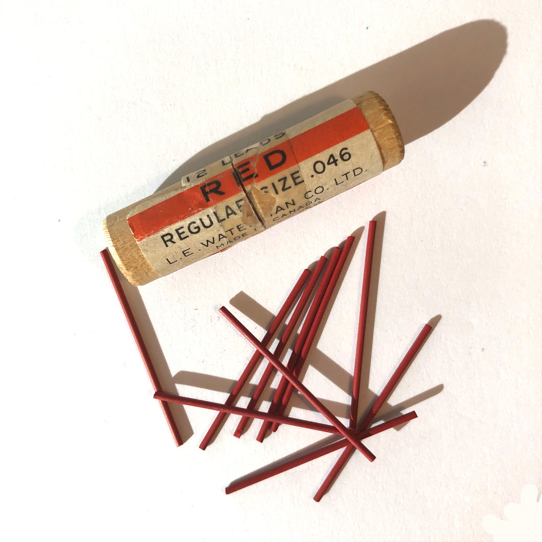 Vintage Lead, Waterman Red, 1.1mm