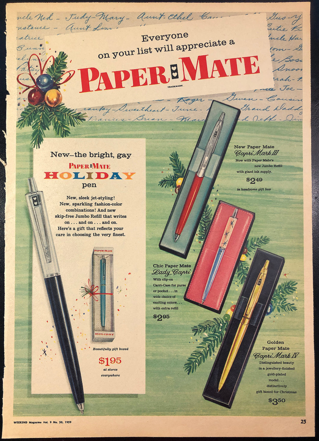 Papermate,  1959