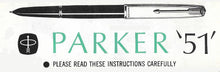 Load image into Gallery viewer, Parker 51 Aerometric, Lustraloy cap Black barrel