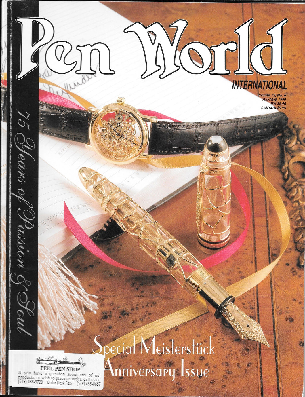 Pen World, Back Issues. July/Aug. 1999 Vol.12. No.6