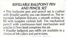Load image into Gallery viewer, Sheaffer's Sentinel, Ballpoint & Pencil set, Black