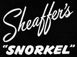 Sheaffer Sentinel Snorkel set