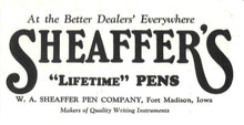Load image into Gallery viewer, Sheaffer's Lifetime, Senior Flat-Top, Black