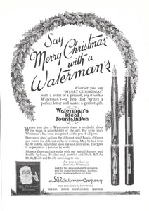 L.E. Waterman's Ideal, Christmas