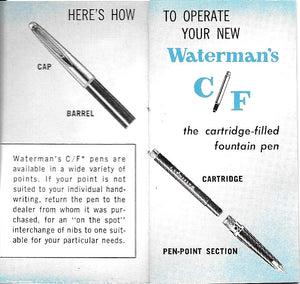 Waterman's c/f set, Fountain pen & Ballpoint, Orange barrel