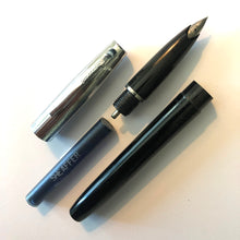 Load image into Gallery viewer, Sheaffer Cartridge Pen Black barrel, chrome cap