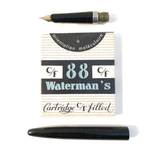 Load image into Gallery viewer, Waterman c/f Stainless steel cap with Black barrel