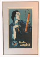 Vintage Ads. Mounted: Metal frame with glass