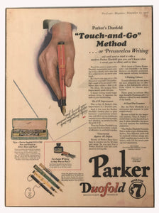 Vintage Ads. Mounted: Parker Duofold