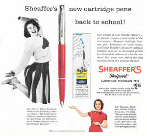 Sheaffer's Skripsert, Cartridge Pen  Blue barrel, chrome cap