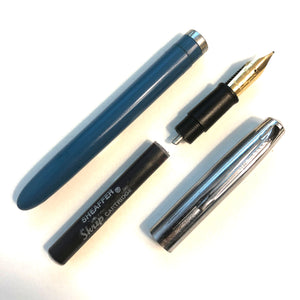 Sheaffer Cartridge Pen Blue barrel, chrome cap