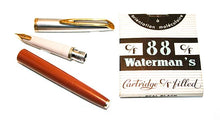 Load image into Gallery viewer, Waterman's c/f set, Fountain pen & Ballpoint, Orange barrel