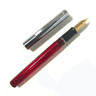 Sheaffer Cartridge Pen Red Transparent barrel, chrome cap