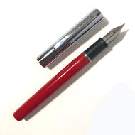 Sheaffer Cartridge Pen Red barrel, chrome cap