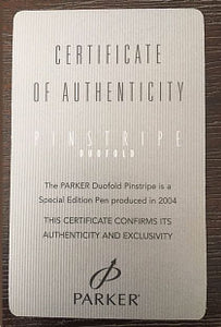 Parker Duofold Pinstripe