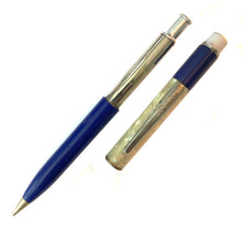Load image into Gallery viewer, Sheaffer Utility Pencil, Pearl Marble cap  & Blue barrel