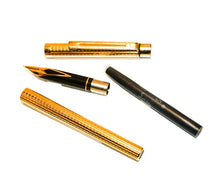 "Load image into Gallery viewer, Sheaffer Targa  ""Slim"". Gold Geometric"