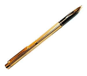 "Sheaffer Targa  ""Slim"". Gold Geometric"