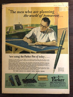 Vintage Ads. Mounted: Parker Vacumatic , The men who are planning the world for tomorrow