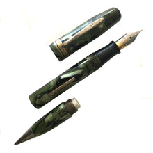 Load image into Gallery viewer, Supreme, Green & Black Marble, Lever-fill, Combo Pen & Pencil