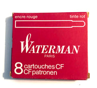 Waterman c/f cartridges Modern Box, Red