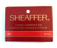 Vintage Sheaffer Skript cartridges Red