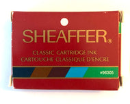 Vintage Sheaffer Skript cartridges Assorted colours