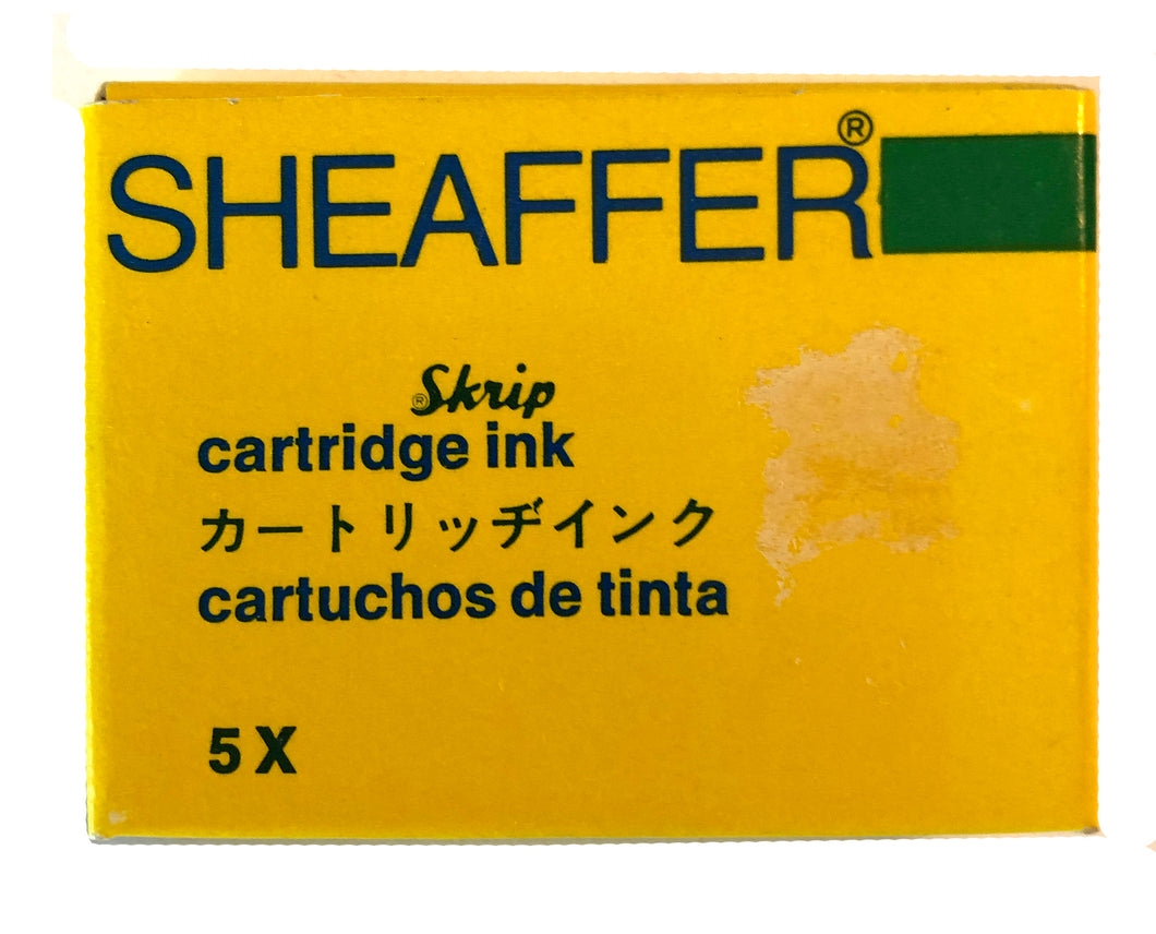Vintage Sheaffer Skript cartridges Green