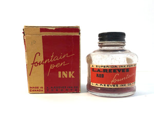 Ink Bottle, L.A.Reeves Ink Co. Red