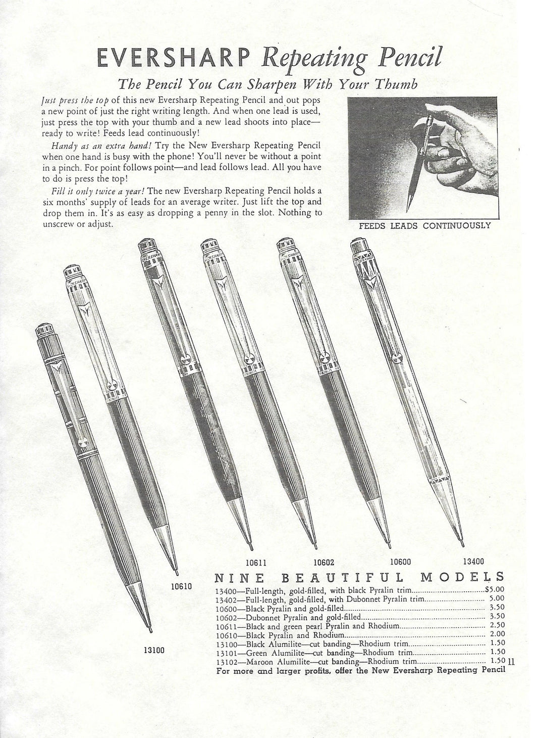 Eversharp, Repeating Pencil