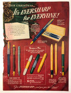 Vintage Magazine Advertising ; Eversharp Christmas