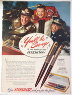 Vintage Magazine Advertising ; Eversharp Skyliner