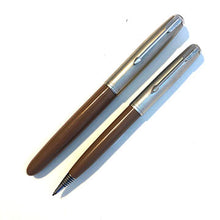Load image into Gallery viewer, Parker 51 Aerometric Cocoa set, Lustraloy,  Fountain Pen & Pencil