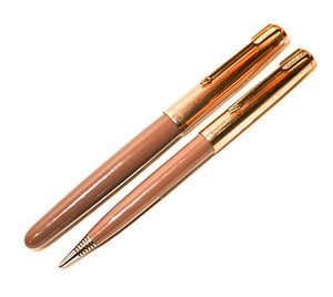 Parker 51 Aerometric Cocoa set, Fountain Pen & Pencil