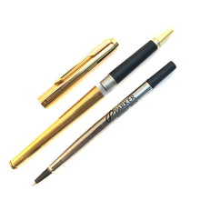 Load image into Gallery viewer, Parker 180, Gold Filled thin line pattern, Rollerball