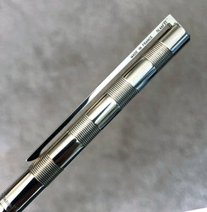 S.T.Dupont Les Classiques, Checkered Lined pattern, Silver Plated