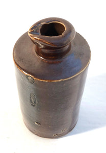 Ink Pot, brown Stoneware
