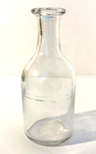 Ink Bottle, clear glass