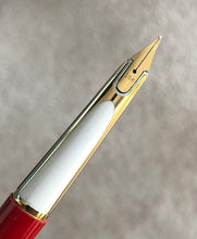 Load image into Gallery viewer, Waterman's c/f set, Fountain Pen & Ball pen, G/F cap Red barrel