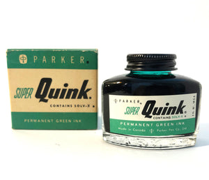 Ink Bottle, Super Quink, Green