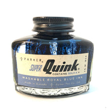 Load image into Gallery viewer, Ink Bottle. Super Quink, Royal Blue, empty