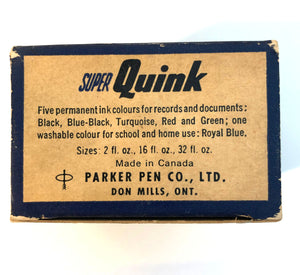 Ink Bottle. Super Quink, Royal Blue