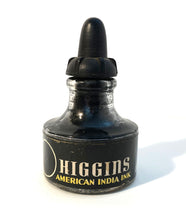 Load image into Gallery viewer, Ink Bottle, Higgin's, India Ink, empty