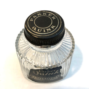 Ink Bottle, Parker Permanent Black 1932- empty