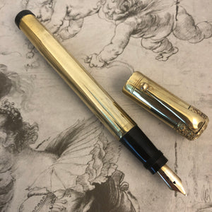 Waterman Safety 18K gold overlay