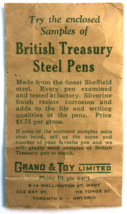 Vintage Dip pens & nibs, British Treasury